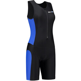 Dare2Tri Frontzip Trisuit Donna, black-blue